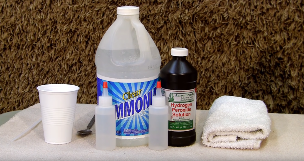 Tools for removing mold from carpet image
