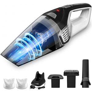 Homasy 8Kpa Portable Handheld Vacuum, Hand Vacuum Cordless with Powerful Cyclonic Suction